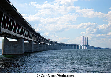 Oresundsbron from right side - An image of the...