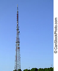 Communications mast 05 - Communications mast set against a...