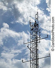 Communications mast 06 - Communications mast set against a...