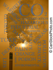 Industrial pollution 02 - An abstract image showing the...