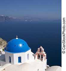 santorini oia 01 - Veiw of the caldera of santorini from a...