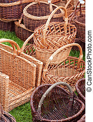 wicker baskets 03 - A selection of hand crafted wicker...