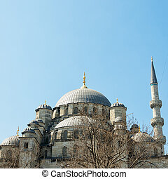 yeni cammii mosque 02 - A view of the majestic yeni cammii...