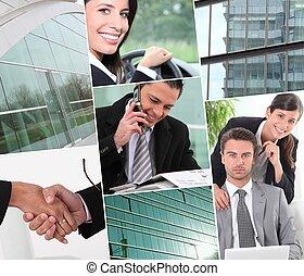拼貼藝術, 專業人員, 工作, 事務
