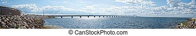 Oresundsbron panorama 02 - A panoramic image of the...