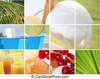 Montage of holiday food and drink