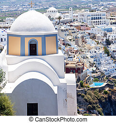 Fira church 08 - An image of the santorini capital town of...