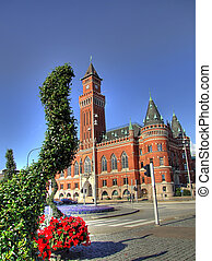 Helsingborg town hall HDR - A high dynamic range image of...