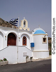 santorini church 01 - Image of a church on the greek island...