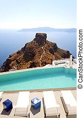 Santorini Luxury Pool at skaros - A luxury swimming pool...