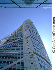 Turning Torso 11 - an upward view of the turning torso...