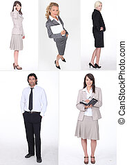 Montage of various businesspeople