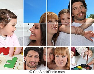 Images of family life