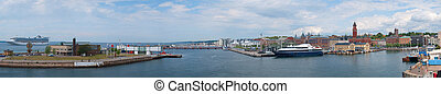 Helsingborg Panorama 01 - A panoramic image of the swedish...