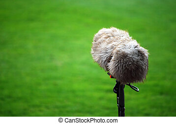 microphone boom - A large microphone boom for tv or radio...