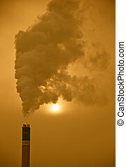 Industrial pollution 01 - An industrial image of a factory...