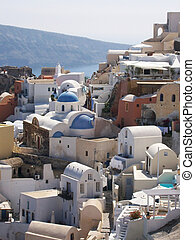 santorini Oia 08 - A view of the greek town of Oia on the...