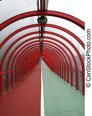 covered walkway 01 - a covered walkway and cyclepath in the...