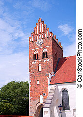 Ahus church 01 - An image of an old medieval church in the...