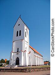 Torekov church 02 - An image of a white church in the...