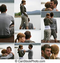 romantic scenes near a lake