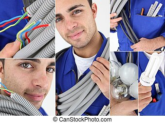 Portraits of an electrician