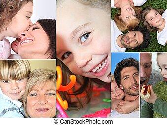 crianças, pais, ou, Avós