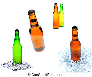 Bottles of Beer - collage of beer bottle