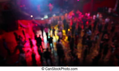 People dancing on party - defocused