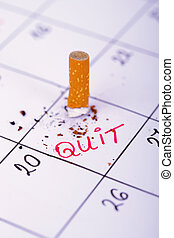 Day when i will quit smoking - Smoked cigarette on a...