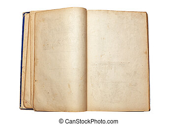 old open book - an old open book on white background