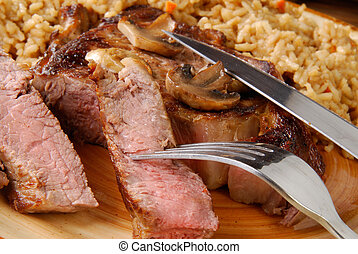Steak and rice