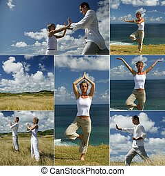 people doing tai chi