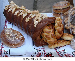Ukrainian festive Bread Horn of Plenty