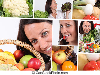 Healthy eating montage