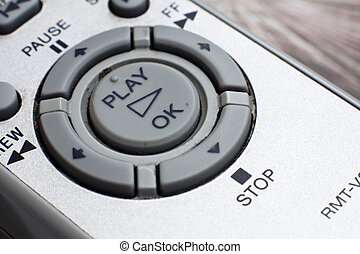Old Remote Controller - A closeup view of an old tv remote...
