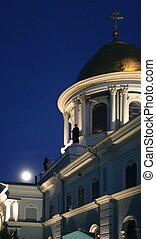 Nigh Spaso-Preobrazhensky Cathedral in Ukrainian city of...