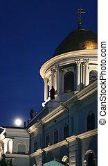 Nigh Spaso-Preobrazhensky Cathedral in Ukrainian city of...