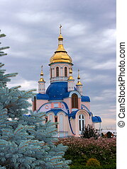 Modern orthodox Church of St. Valentine in Ukrainian city of...