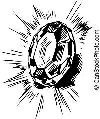 Diamond - Beautiful big diamond shining in the sun
