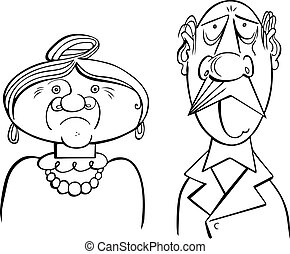 Old couple Illustrations and Clip Art. 6,003 Old couple royalty ...