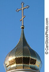 Orthodox Church's Holy Cross upon cupola 009
