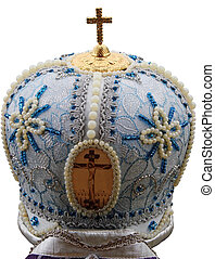 blue mitre - solemn headgear of the orthodox bishop