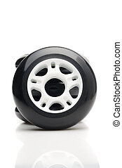 Inline skate wheels Isolated over white
