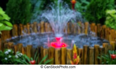 Fountain with Light in mini garden Decoration