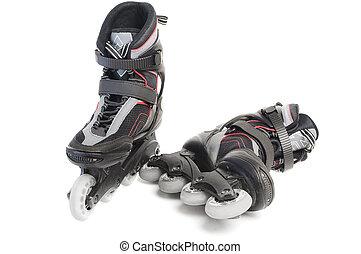 En línea, patines