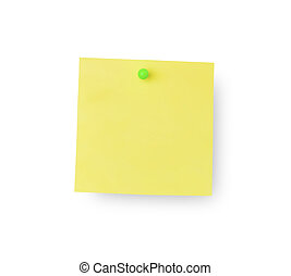 Sticky memo notes on white background