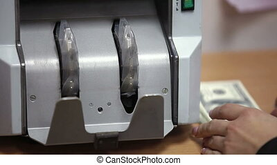 Money Counting Machine - Banknote counter counting american...