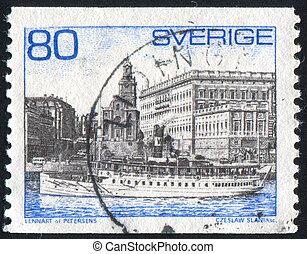 Steamer Storskar - SWEDEN - CIRCA 1971: stamp printed by...
