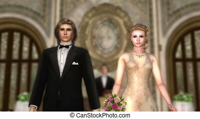 Bridal couple - image of bridal couple